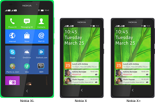 Nokia announces Nokia X, Nokia XL and Nokia X+
